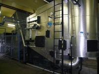 Kotel na slámu, hydraulické řezání balíků