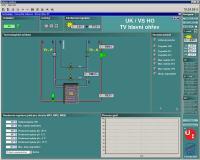 Důležitá je obrazovka pro vizualizaci centrálního výměníku. Ten je zdrojem tepla pro všechny ostatní technologické celky. Je proto vzlášť důležité monitorovat a sledovat správnou funkci tohoto zařízení.
