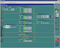 Úvodní obrazovka vizualizace - souhrnná tabulka